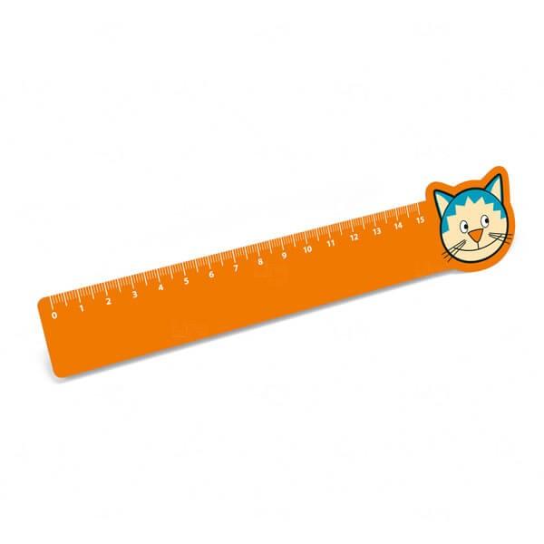 Régua Infantil Personalizada - 15cm Laranja