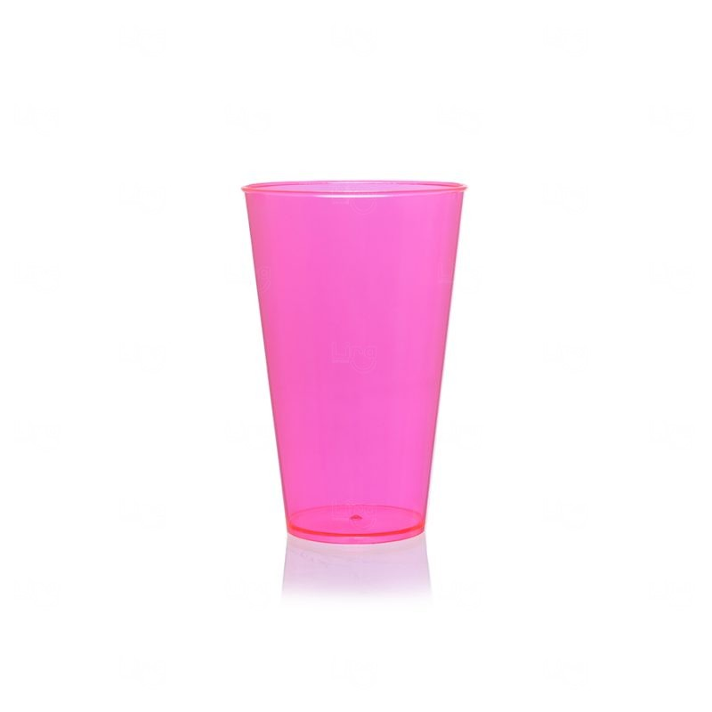 Copo Mega Drink Personalizado - 550 ml (Leitoso ou Cristal) Rosa