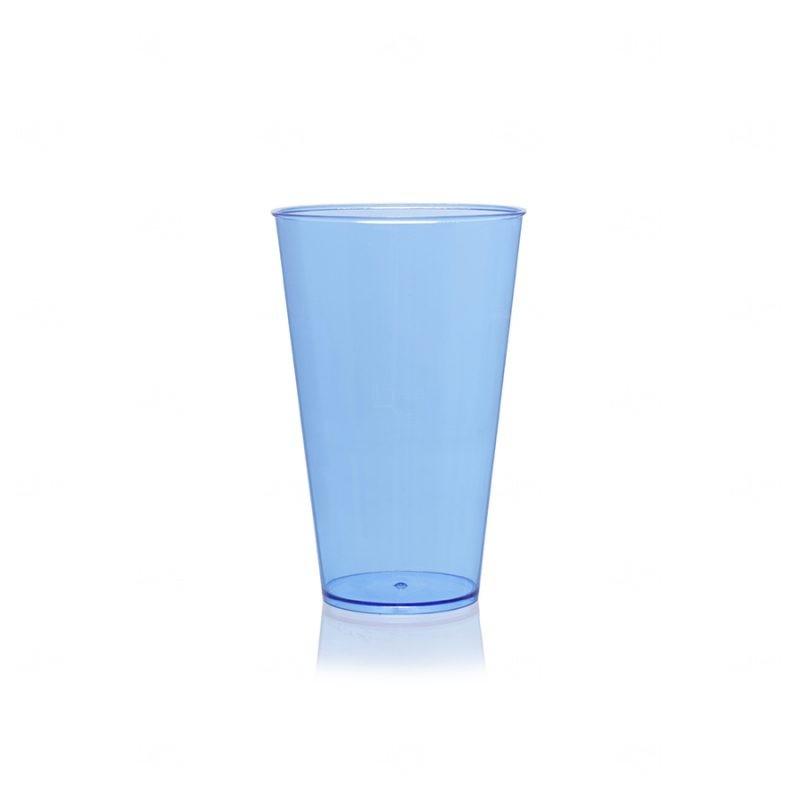 Copo Mega Drink Personalizado - 550 ml (Leitoso ou Cristal) Azul Claro