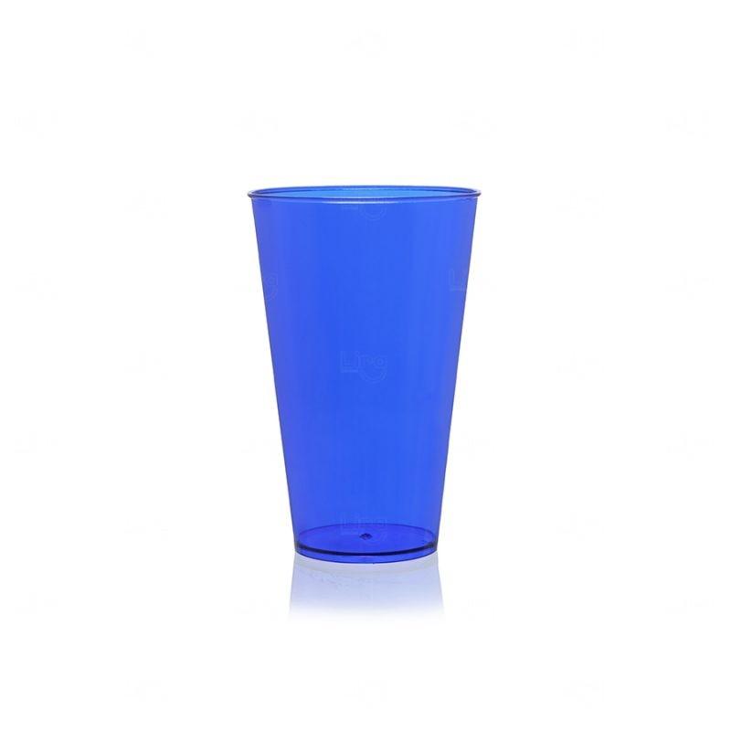 Copo Mega Drink Personalizado - 550 ml (Leitoso ou Cristal) Azul