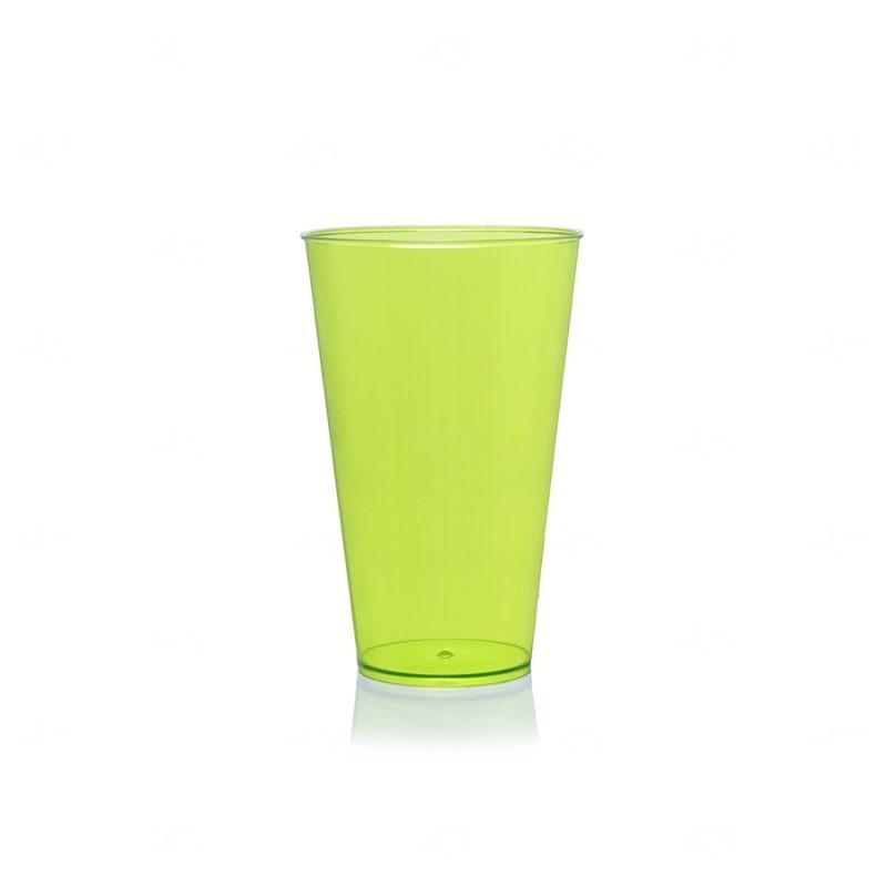 Copo Mega Drink Personalizado - 550 ml (Leitoso ou Cristal) Verde Claro