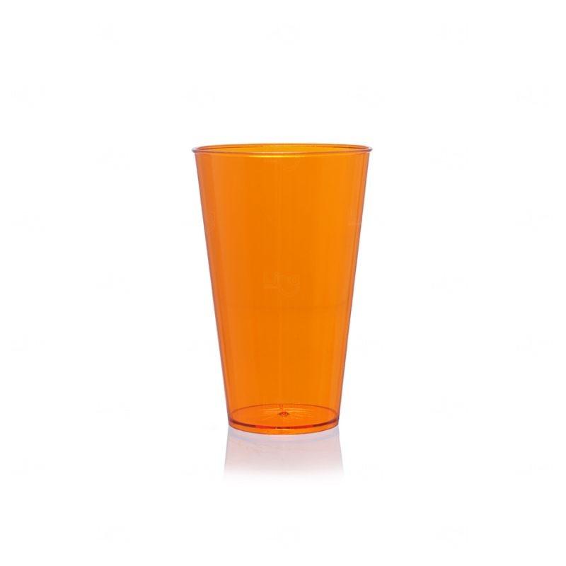 Copo Mega Drink Personalizado - 550 ml (Leitoso ou Cristal) Laranja