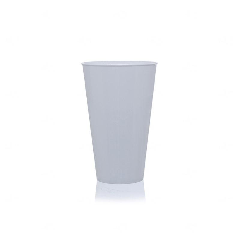 Copo Mega Drink Personalizado - 550 ml (Leitoso ou Cristal) Branco