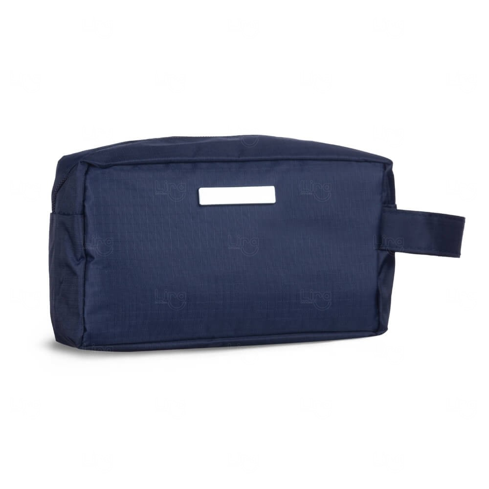 Necessaire Nylon Impermeável Personalizada Azul Marinho