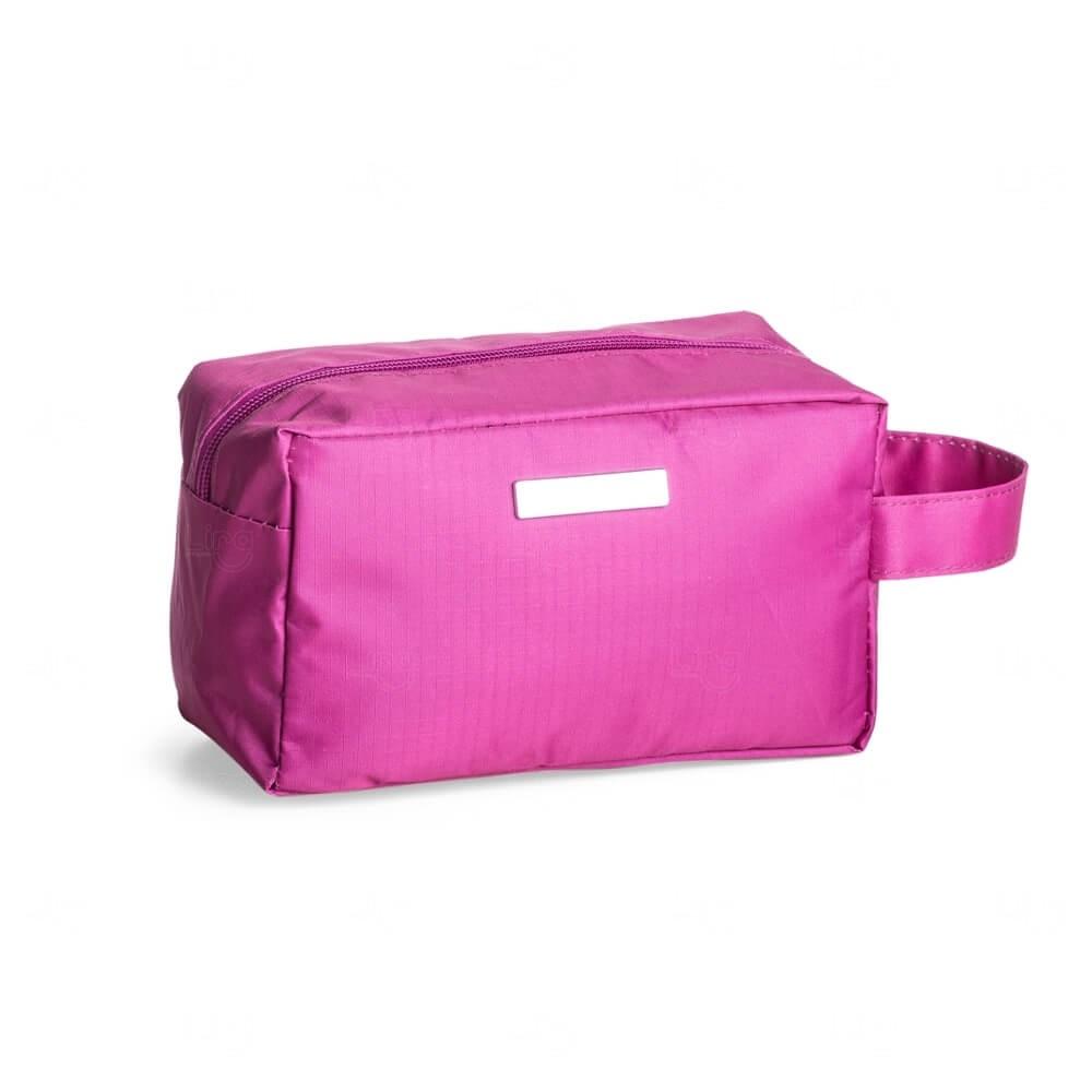 Necessaire Nylon Impermeável Personalizada Rosa Pink