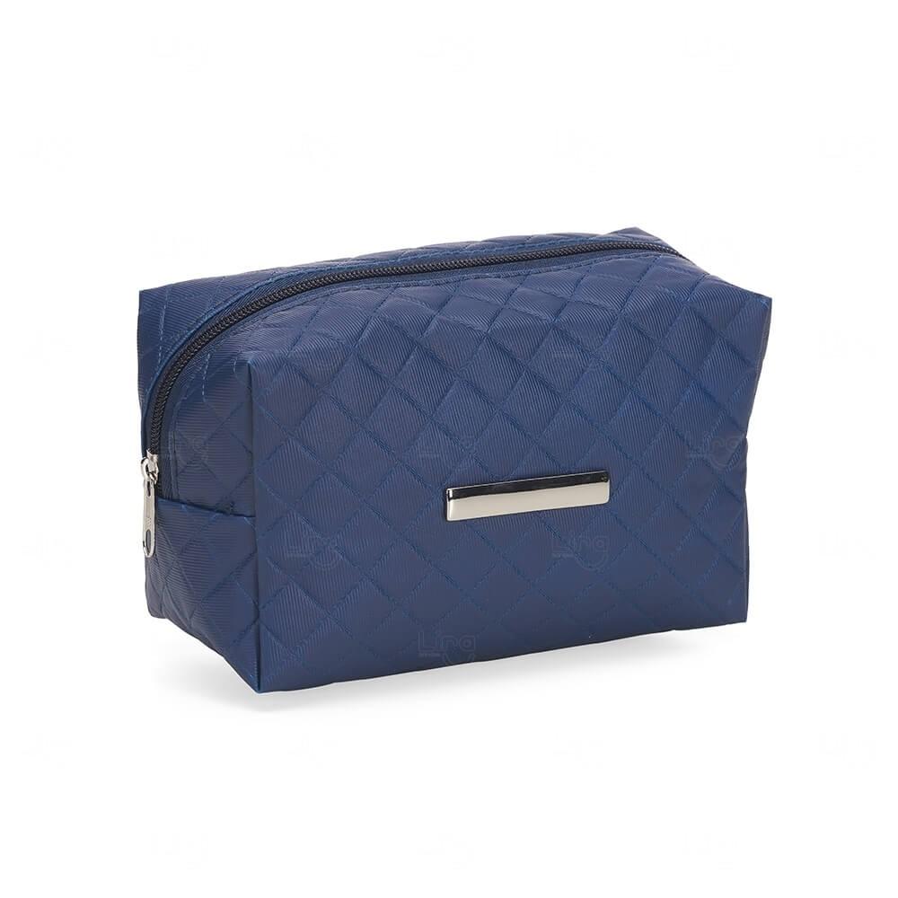 Necessaire PVC Impermeável com Plaquinha Personalizada Azul