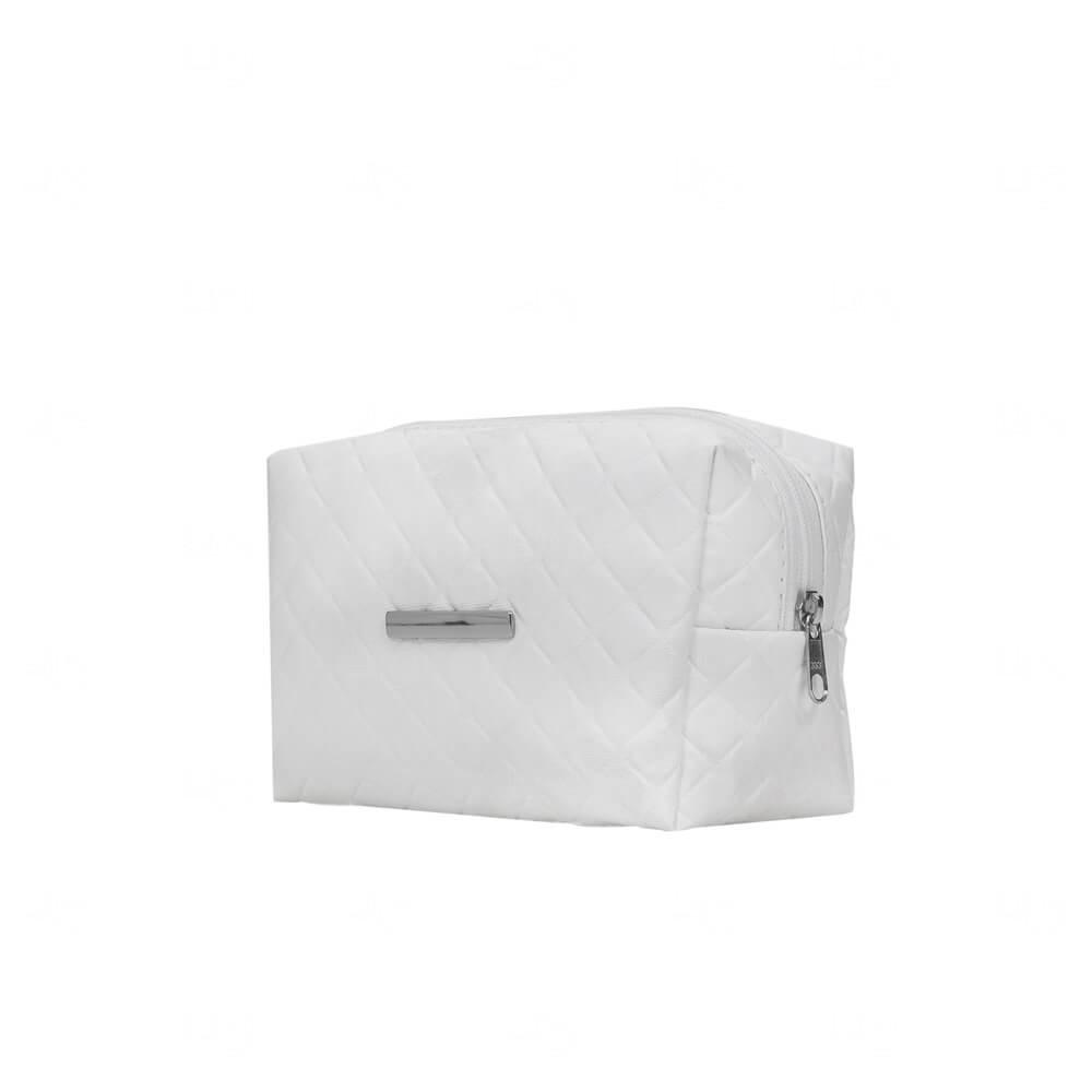 Necessaire PVC Impermeável com Plaquinha Personalizada Branco