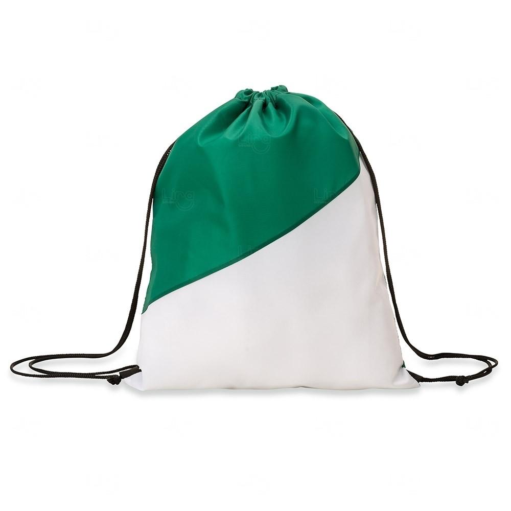 Sacochila Personalizada em Nylon Verde