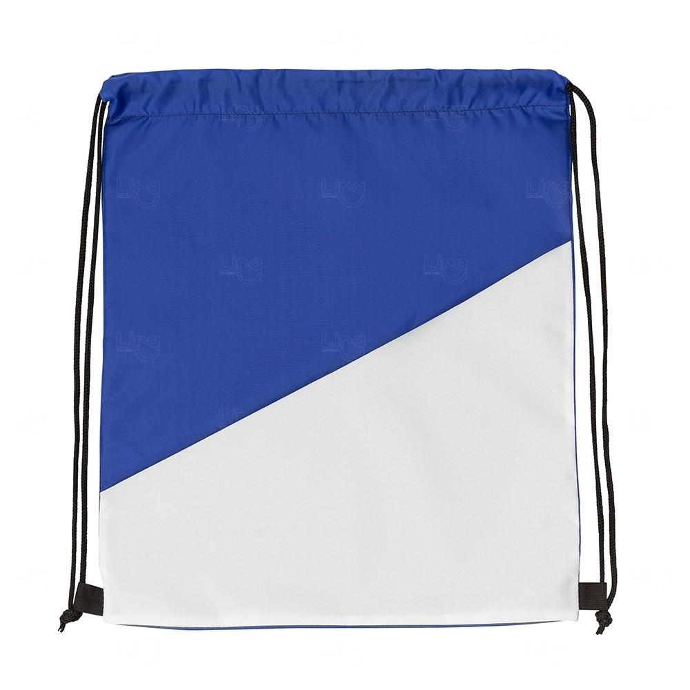 Sacochila Personalizada em Nylon Azul