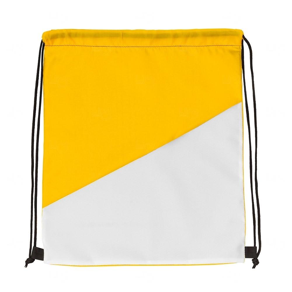 Sacochila Personalizada em Nylon Amarelo