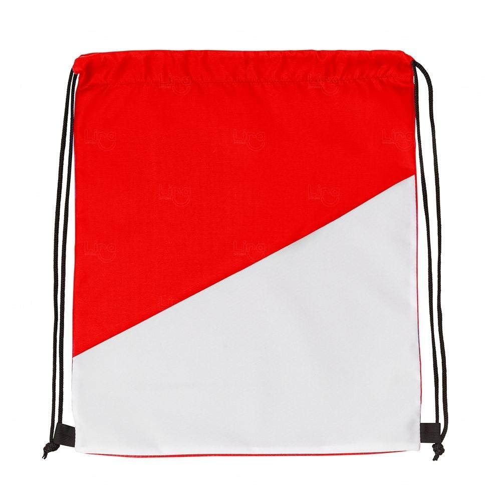 Sacochila Personalizada em Nylon Vermelho