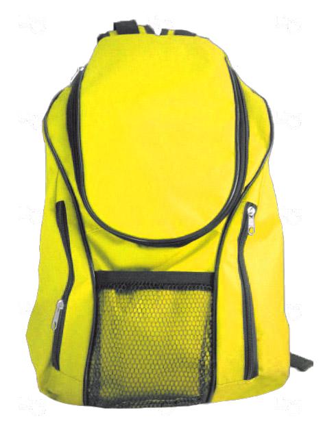 Mochila Lona de Algodão Personalizada Amarelo
