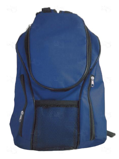 Mochila Lona de Algodão Personalizada Azul Marinho