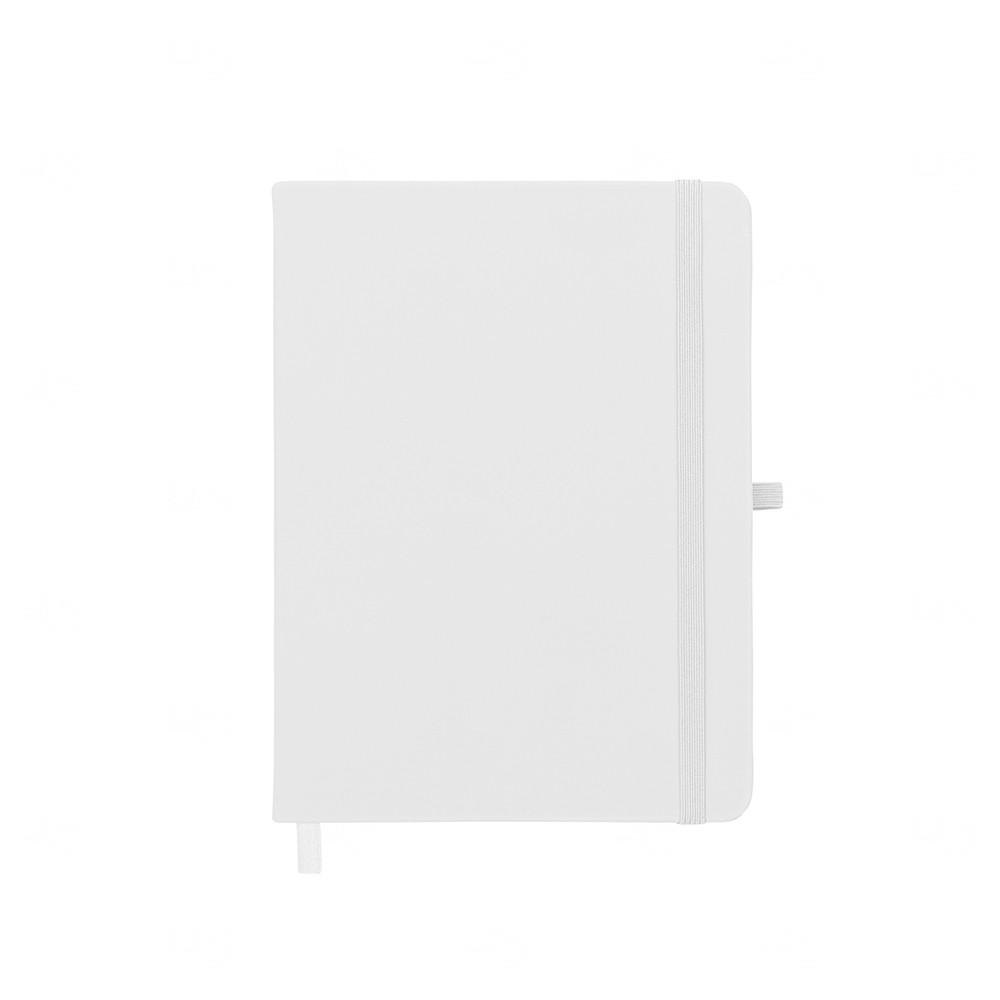 Caderneta tipo Moleskine com Porta Caneta Personalizada Branco