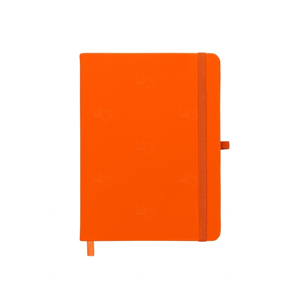 Caderno Moleskine C/ Porta Caneta Personalizado - 17,7x13,3cm Laranja