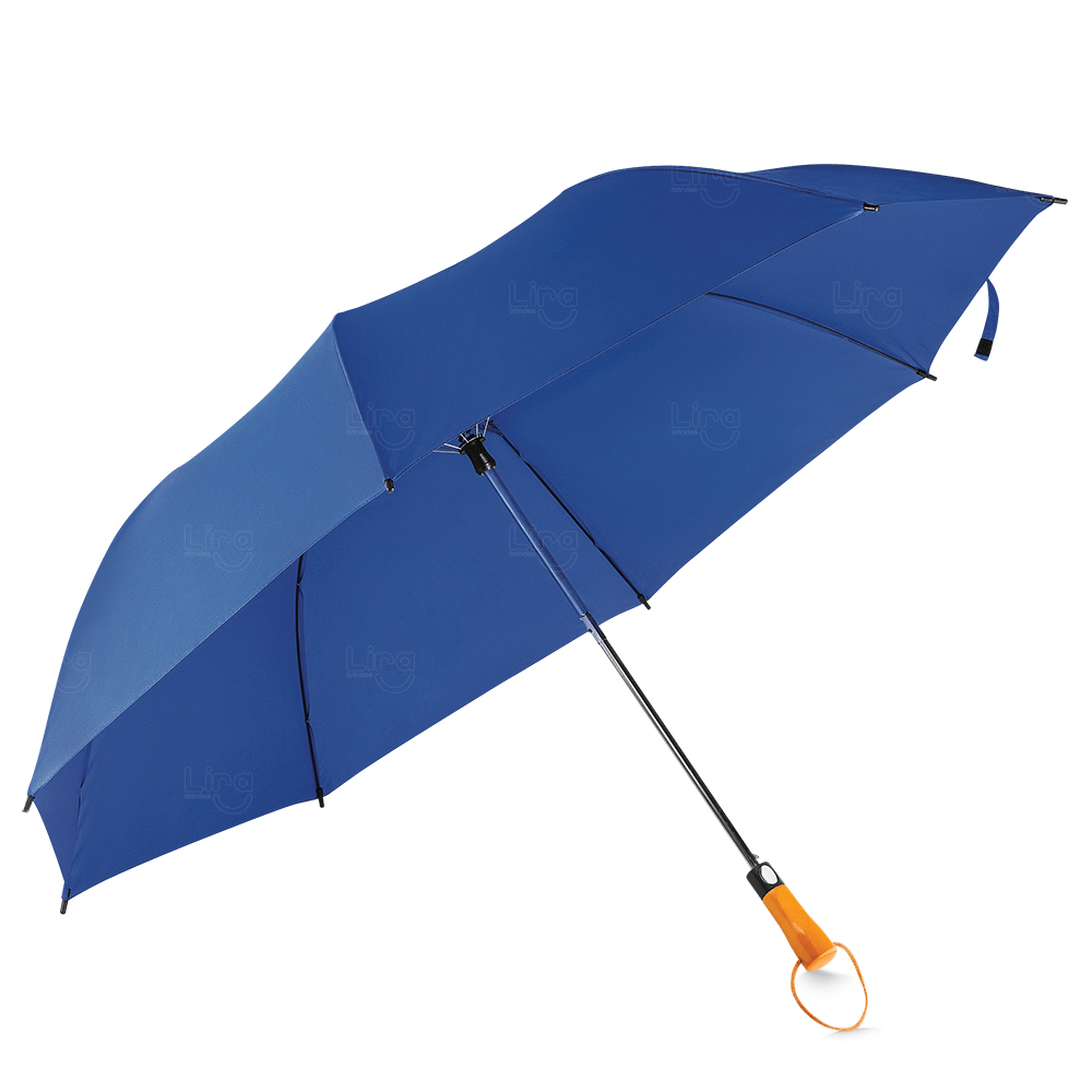Guarda-Chuva C/ Cabo Madeira Personalizado Azul