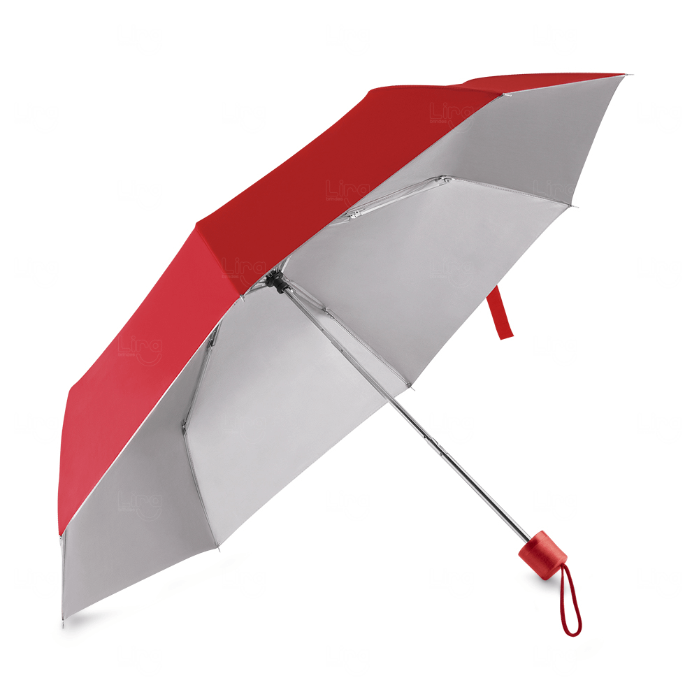 Guarda-Chuva C/ Cabo Plástico Personalizado Vermelho