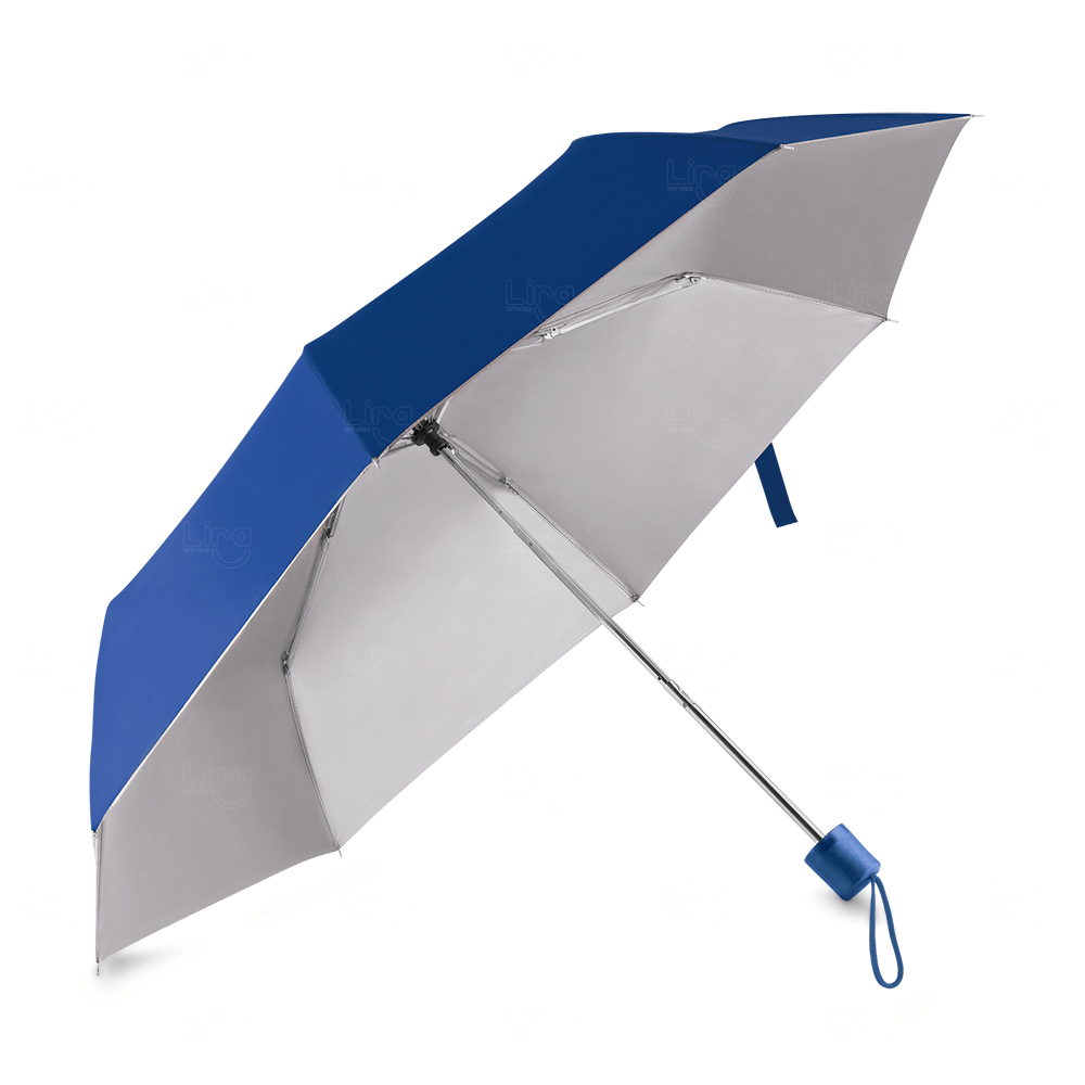 Guarda-Chuva C/ Cabo Plástico Personalizado Azul