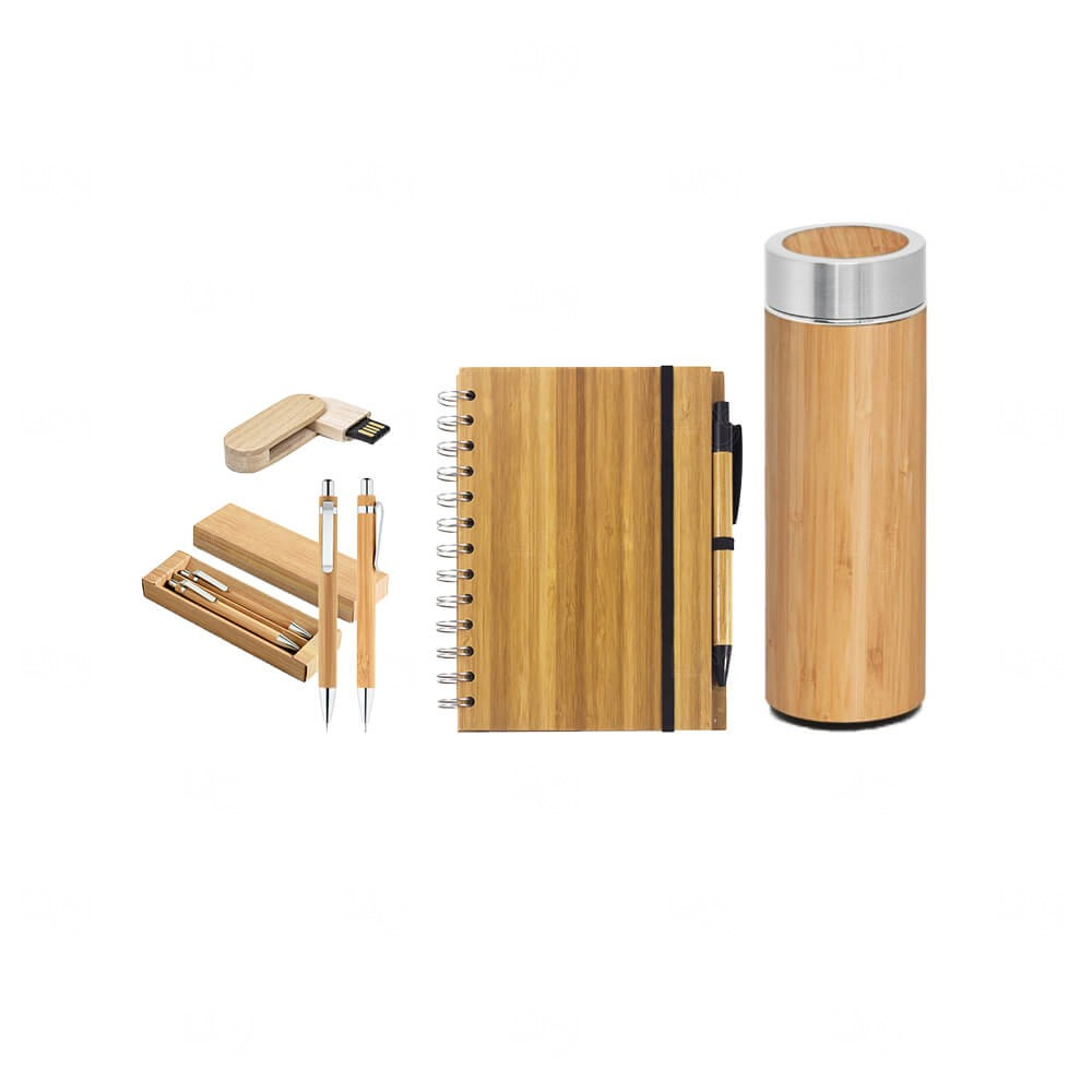 Kit Home Office Bambu Personalizado
