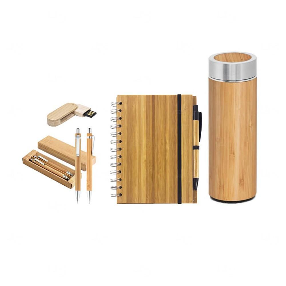 Kit Home Office Bambu Personalizado