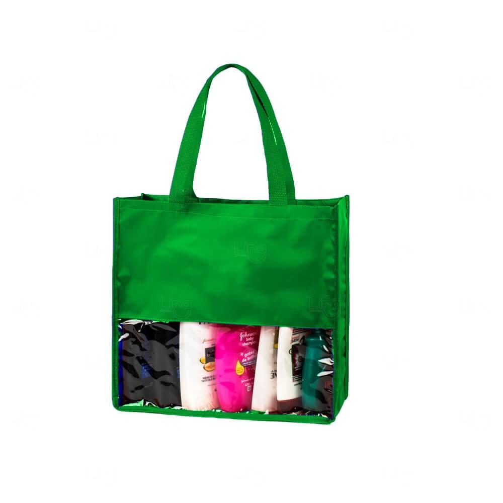 Sacola Visual Cosméticos Personalizada Verde
