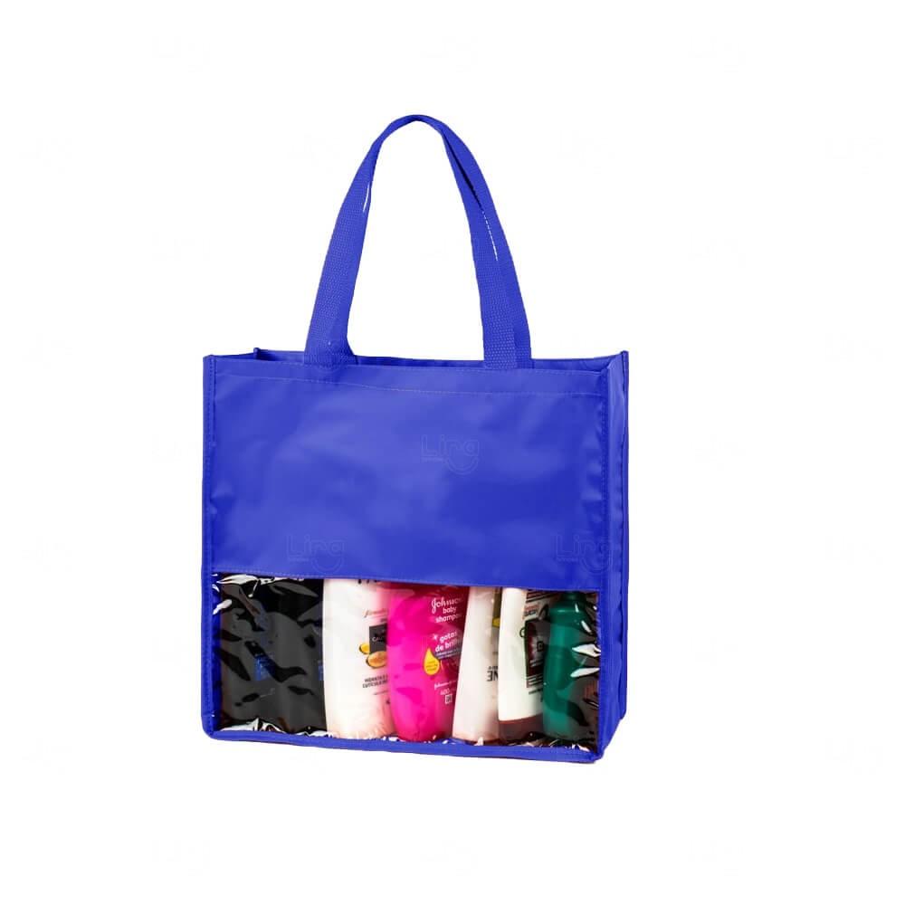 Sacola Visual Cosméticos Personalizada Azul