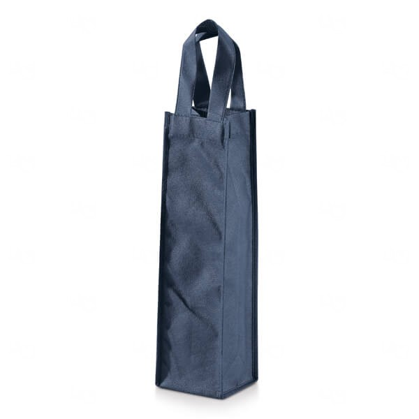 Sacola Para Garrafa Personalizada Azul