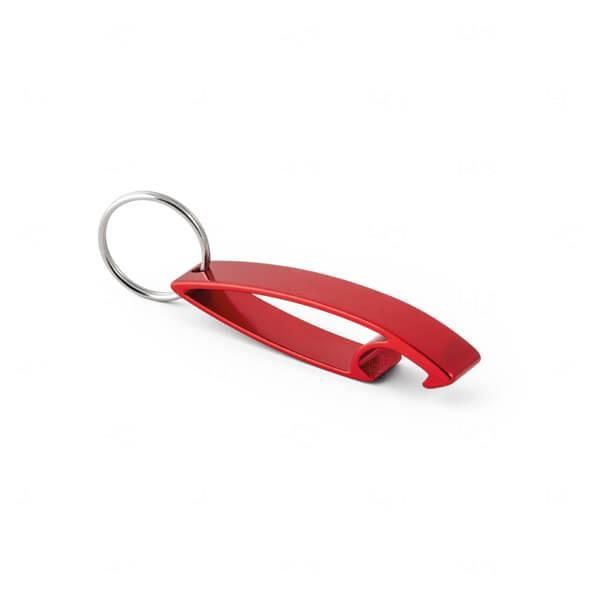 Chaveiro C/ Abridor de Garrafas Personalizado Vermelho