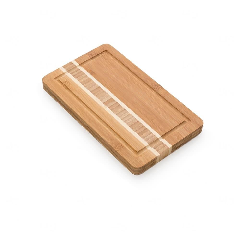 Tábua de Bambu Com Canaleta Personalizada Madeira