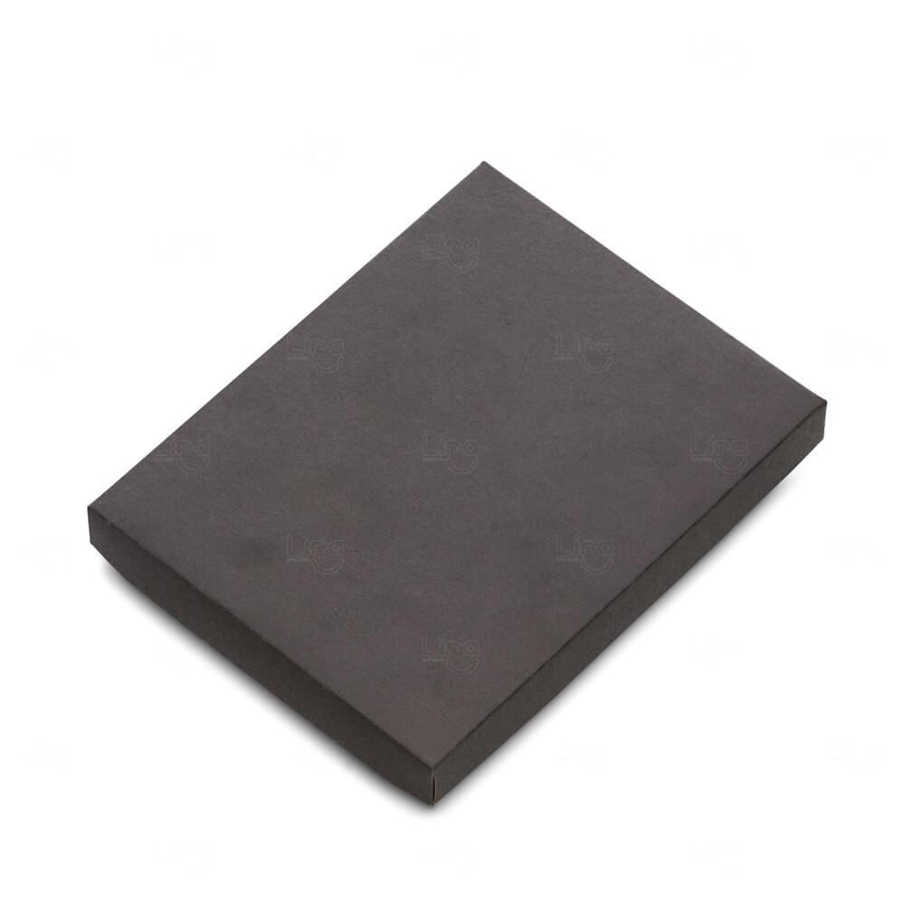 Embalagem para Caderneta Tipo Moleskine Personalizado Preto