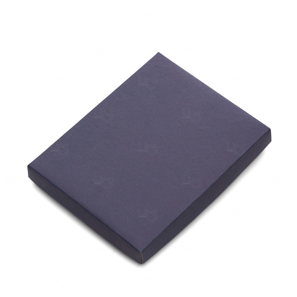 Embalagem para Caderneta Tipo Moleskine Personalizado Azul