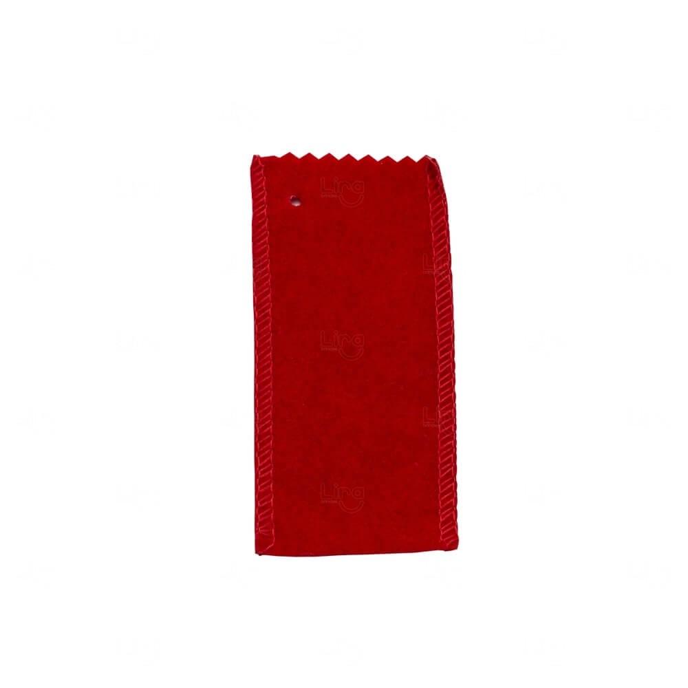 Veludo para Pen Drive Personalizado Vermelho