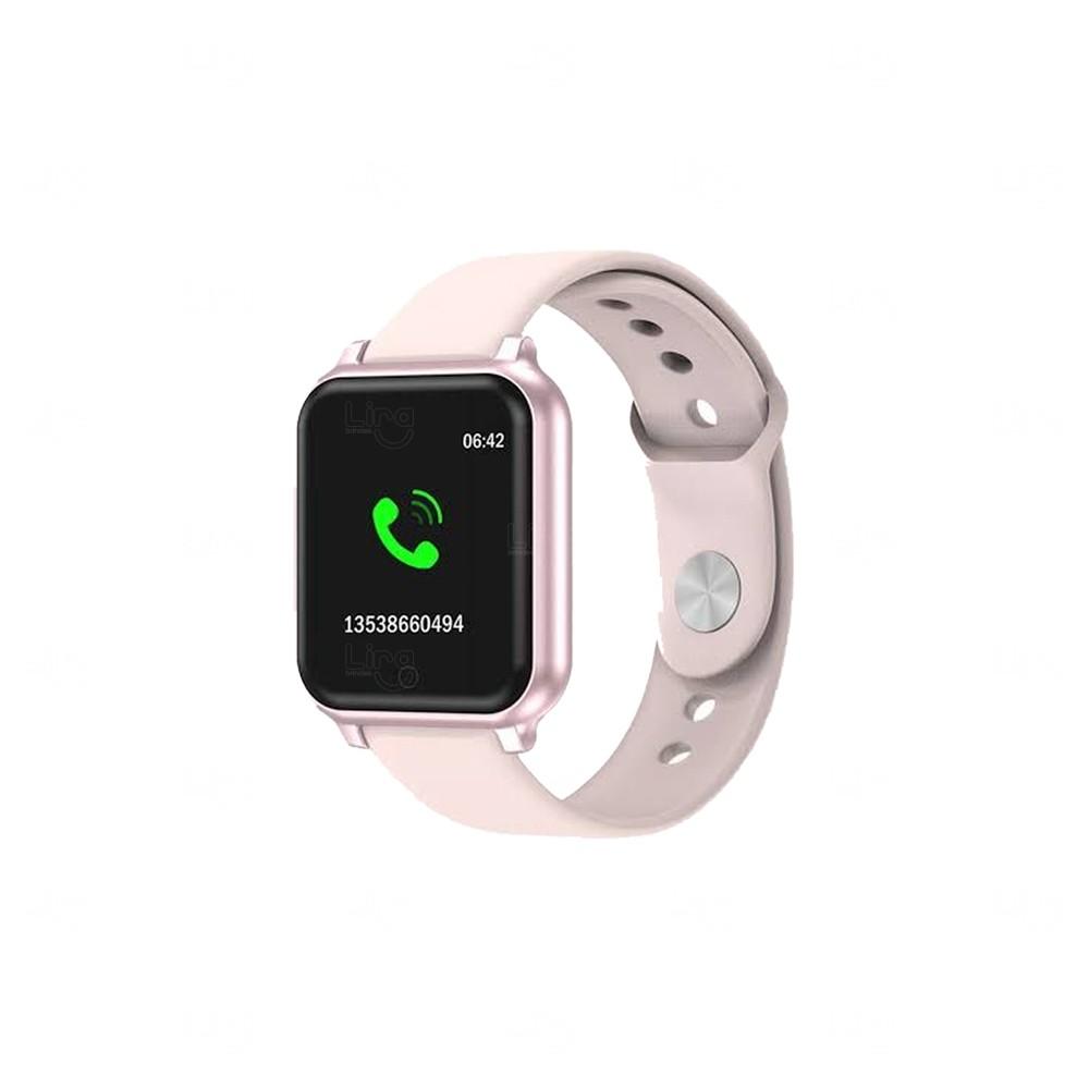 Relógio Smartwatch T70 Personalizado Rosa