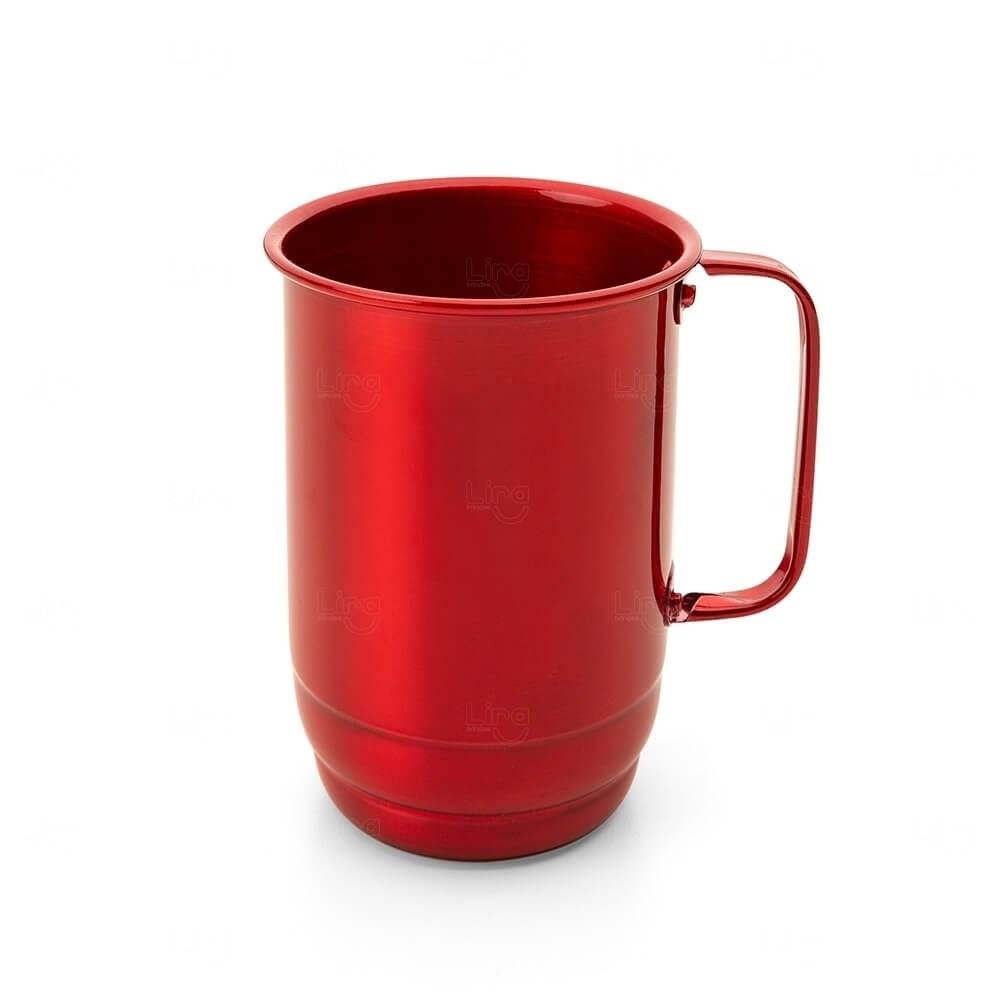 Caneca de Alumínio Personalizado - 850ml Vermelho