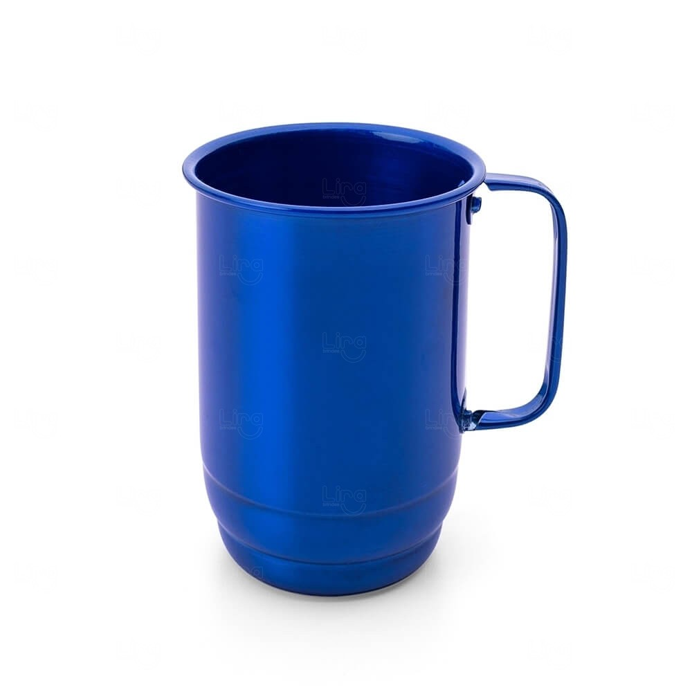 Caneca de Alumínio Personalizado - 850ml Azul