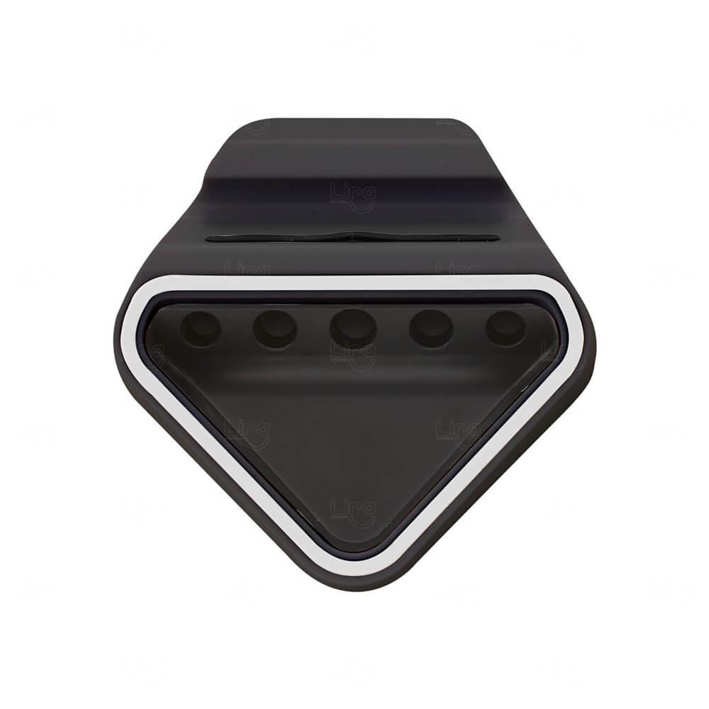 Suporte P/ Celular Com Porta Canetas Personalizado Preto