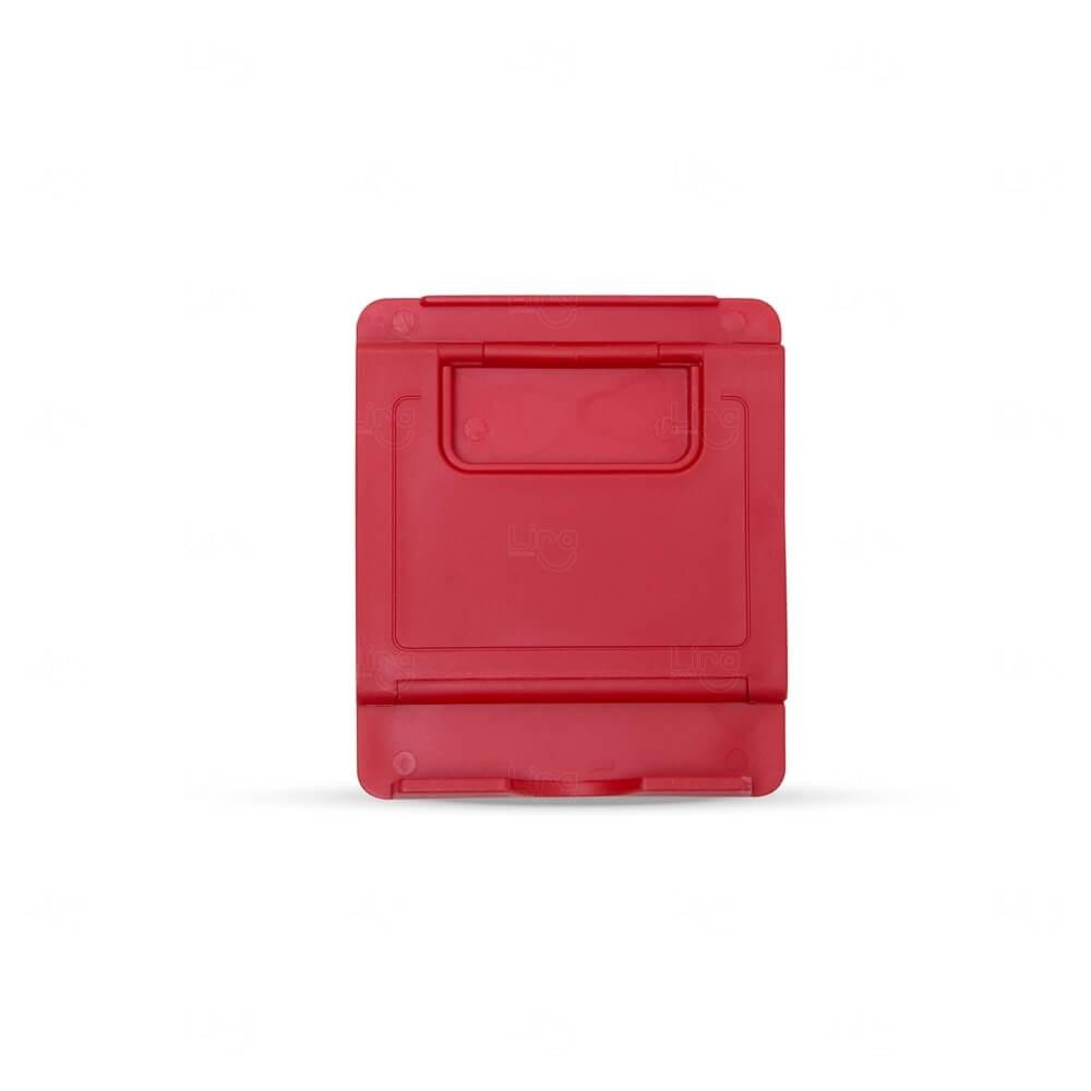 Suporte Plástico p/ Celular Personalizado Vermelho