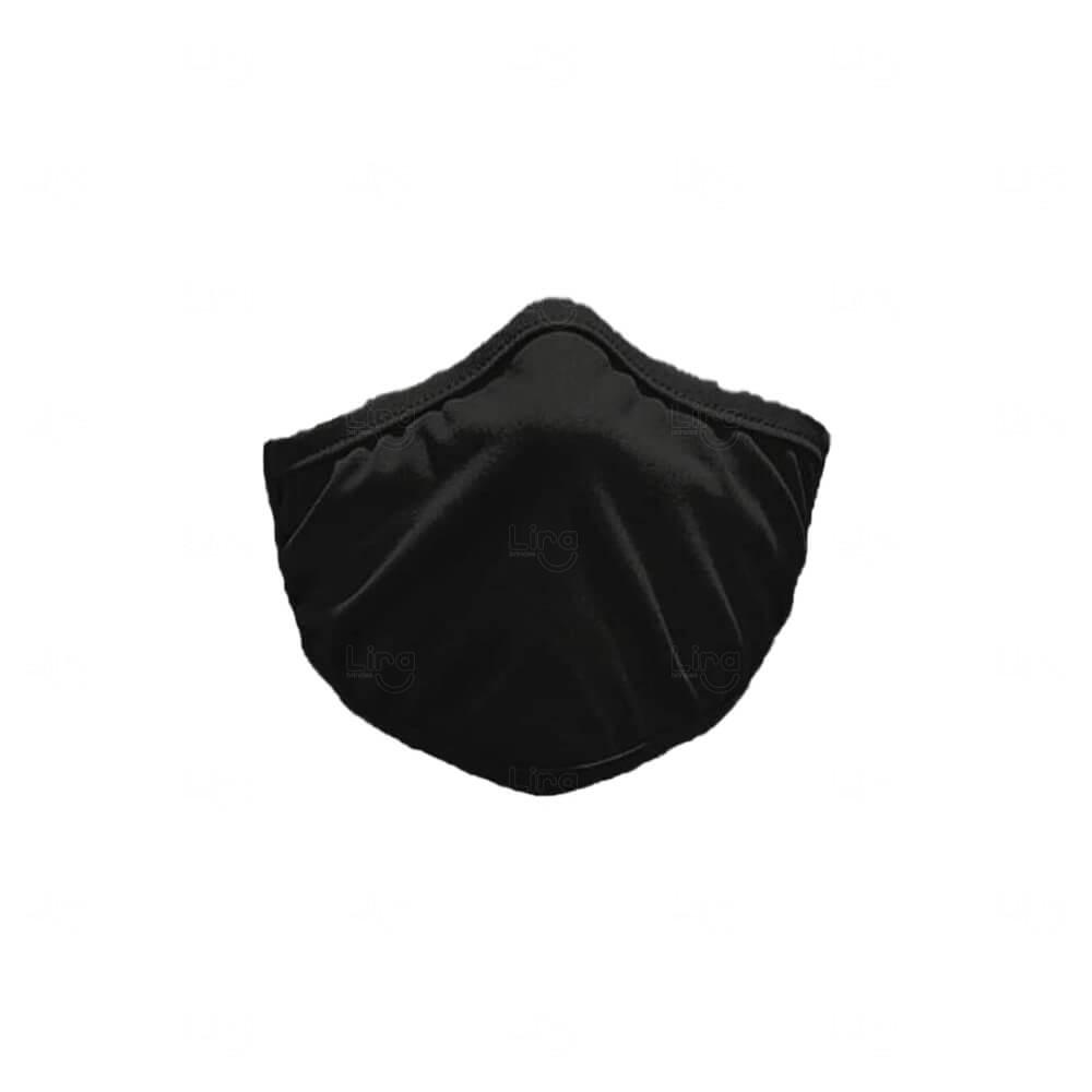 Máscara De Proteção Adesiva Personalizada Preto