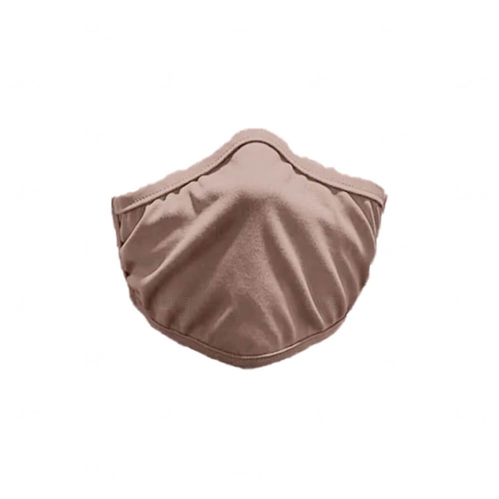 Máscara De Proteção Adesiva Personalizada Bege