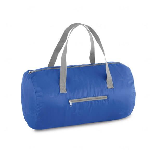 Sacola Esportiva Dobrável Personalizada Azul