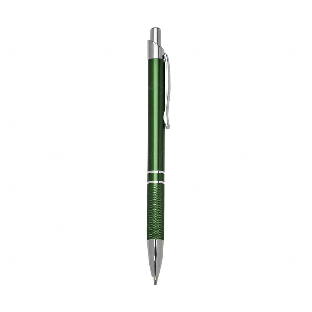 Caneta Metal C/ Textura Personalizada Verde