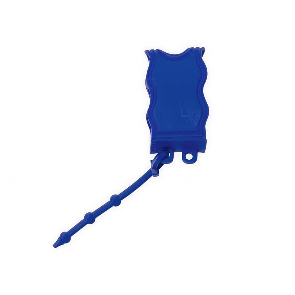 Chaveiro Porta Álcool Gel Personalizado Azul