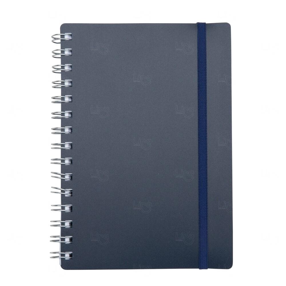 Agenda Diária 2021 de Plástico Personalizada - 20 x 14,6 cm Azul Marinho