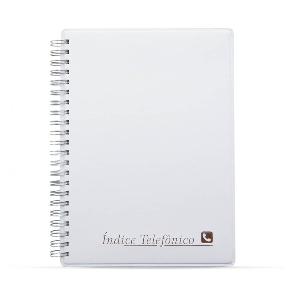 Agenda Telefônica de Couro Sintético Personalizada - 20,1x15,2 cm