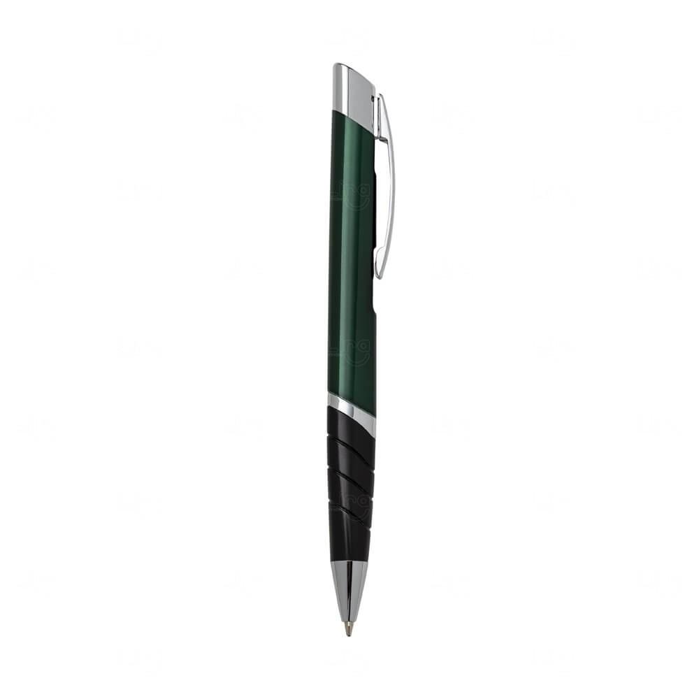 Caneta Triangular Em Metal Personalizada Verde