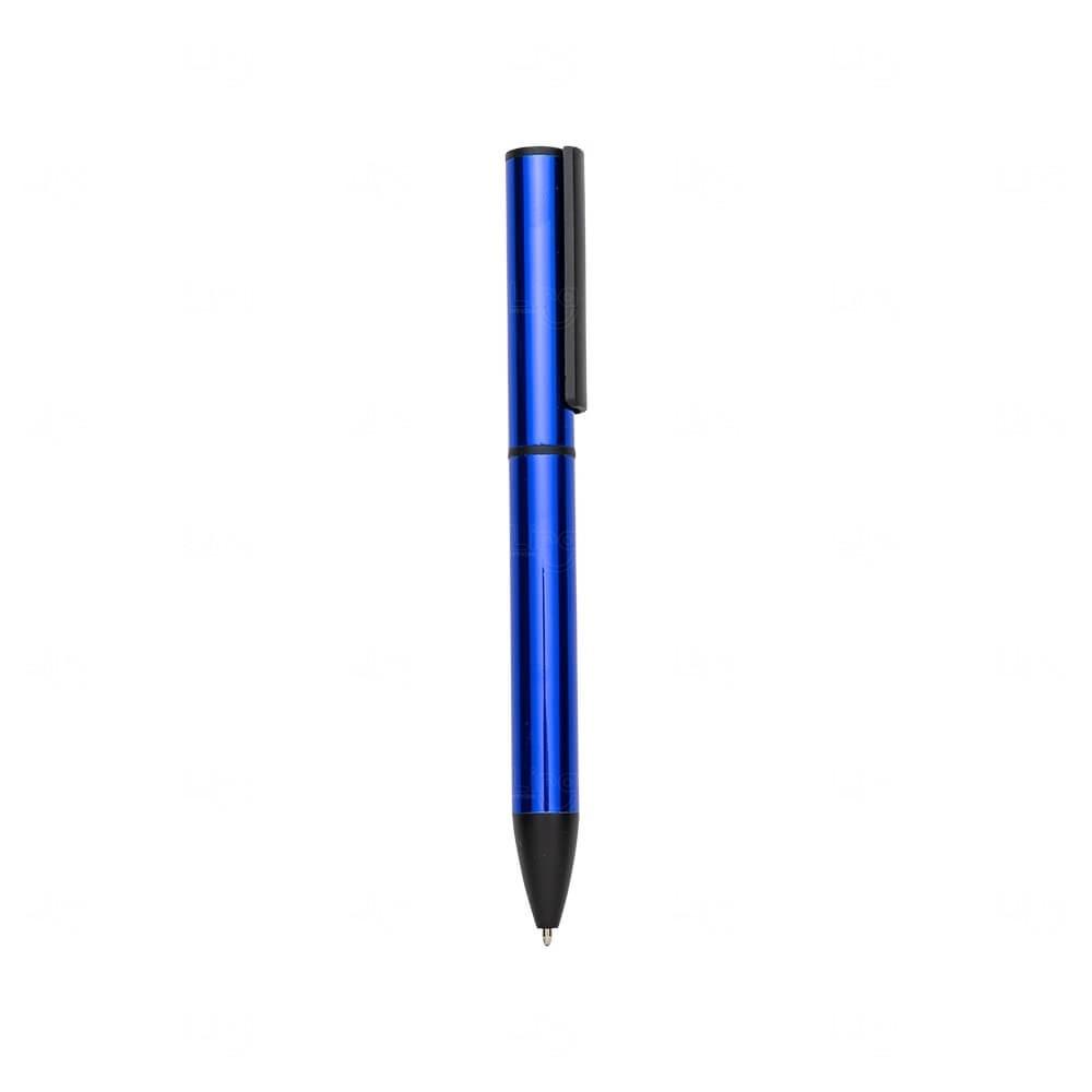 Caneta de Metal Personalizada Azul