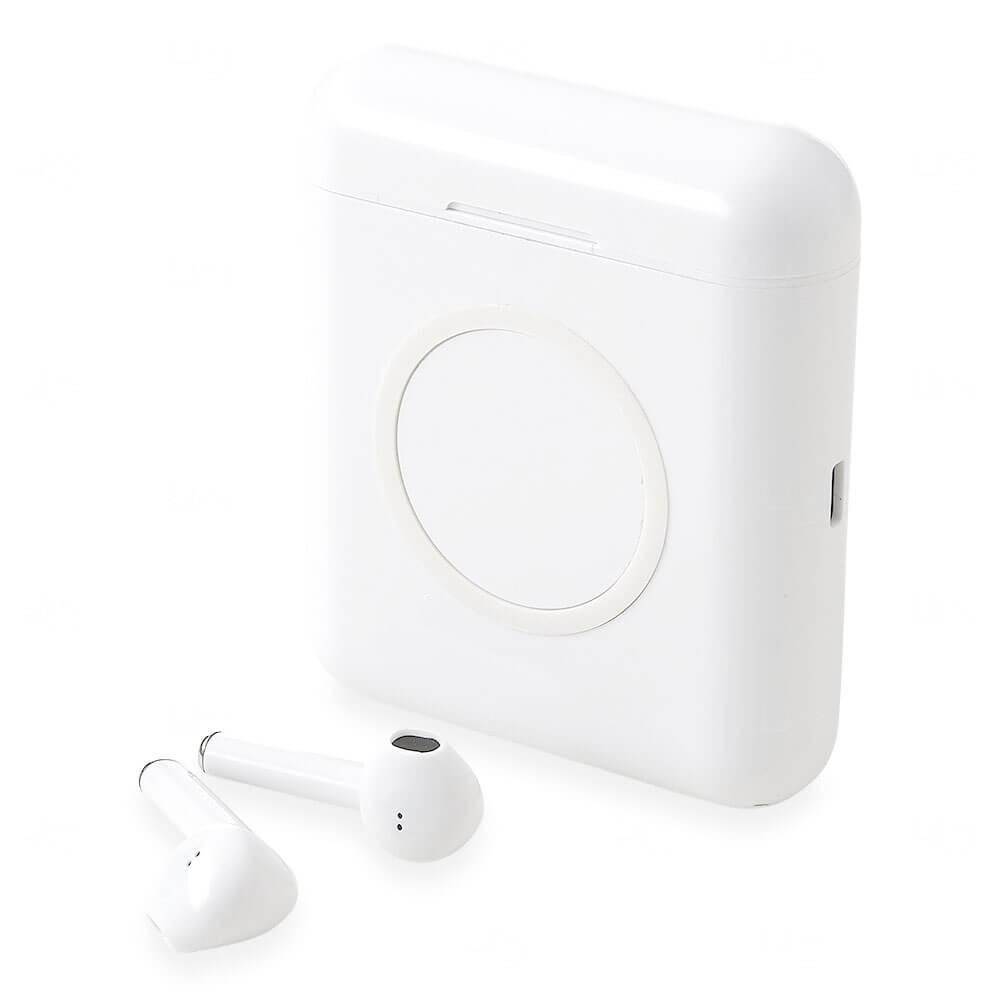 Power Bank Wireless com Fone de Ouvido Personalizado - 5.200 mAh