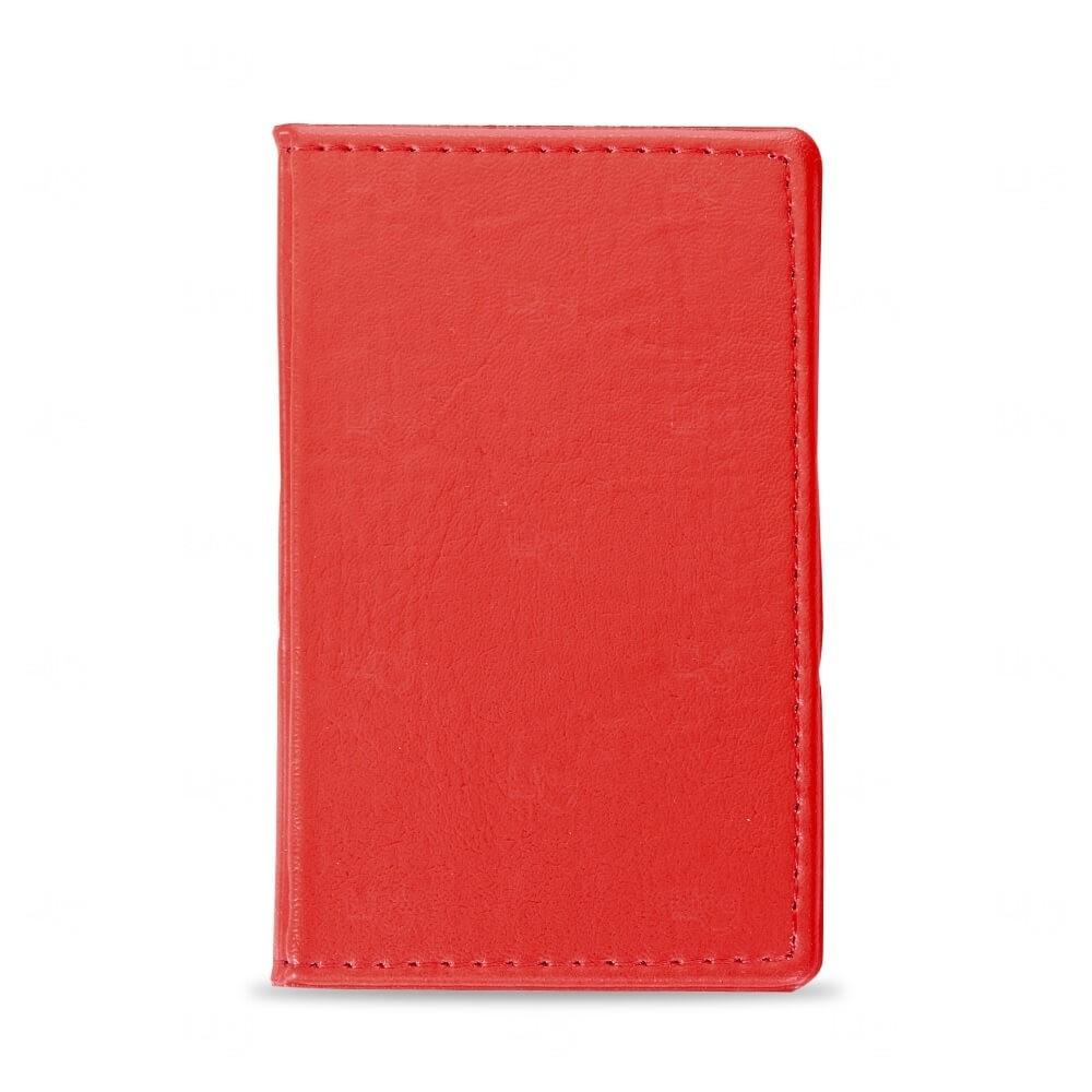 Caderneta Couro com  Post-It Personalizada Vermelho