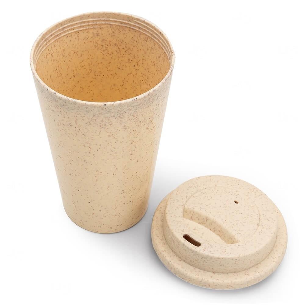Copo Fibra de Bambu Personalizado - 470ml Bege