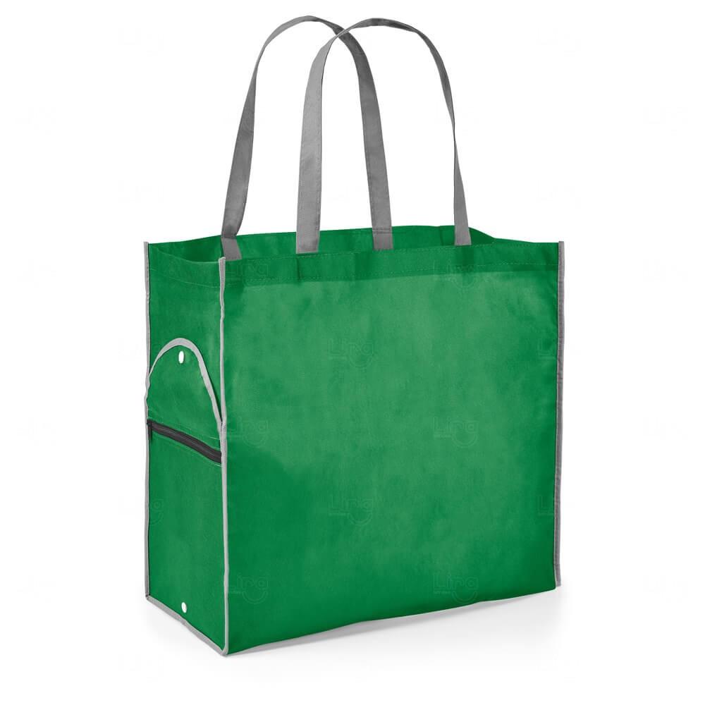 Sacola Dobrável Personalizada Verde